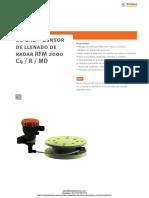 Sensor de Llenado Por Radar Stubbe Rfm2000
