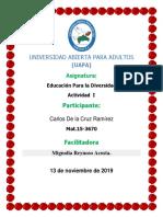 Tarea 2 de Educacion Para La Diversidad Carlos de La Cruz Ramírez