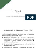 PP Clase 2. Clases y coyunturas críticas