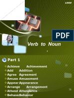 Verb to Noun