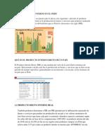 Producto Bruto Interno en El Peru