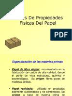 Analisis de Propiedades Fisicas en Papel