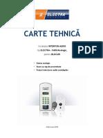 Electra Carte Tehnica