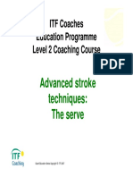 ITF Level 2 Advance Stroke Serve