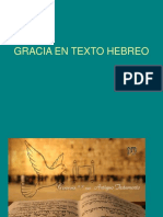 Gracia en Texto Hebreo