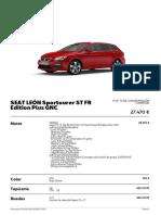 Leon Sportourer ST FR Edition Plus GNC