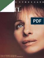 Songbook Yantel - Barbara Streisand