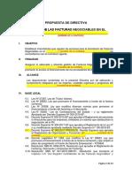 Propuesta de Directiva - Factura Negociable