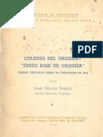 """Reseña Colegio Nacional """"Justo José de Urquiza""""- Jose Maria Nadal - 1949"""