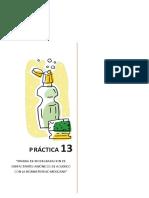 Páctica 13. Degradación de surfactantes