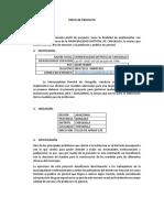 Perfil de Proyecto Madera