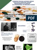 Mecanismos de Accion y Resistencia Antimicrobiana