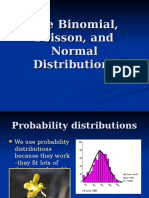 The Binomial Poisson and Normal Distributions