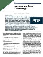 Are U Sure U Have a Strategic?
