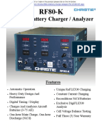 Christie RF80 K Specification Sheet