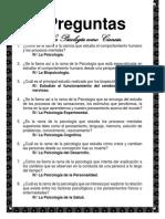 1er - Corrientes Psicológcas - Preguntas de Psicología