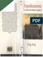 Philip Petit - Republicanismo. Una teoria sobre la libertad y el gobierno