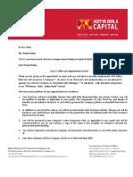 Pooja Panika ASM 2.5 Indian Bank Revised Letter.