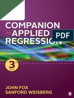 Companion Applied Regression R