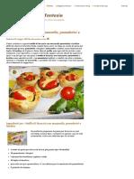 Muffin Di Focaccia Con Mozzarella, Pomodorini e Basilico