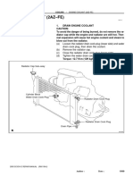 ENGINE COOLANT (2AZ–FE) REPLACEMENT
