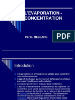 Evaporation Concentration Support Du Cours