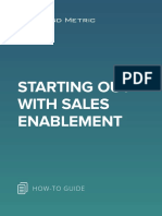 Starting Out With Sales Enablement