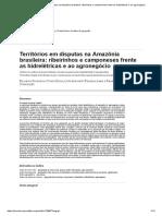 Territórios Em Disputas Na Amazônia Brasileira_ Ribeirinhos e Camponeses Frente as Hidrelétricas e Ao Agronegócio