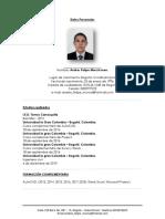 Hoja de Vida Ingeniero Andres Felipe Murcia Leon