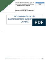 DETERMINACIÓN DE LAS CARACTERÍSTICAS SUPERFICIALES DE LA PISTA