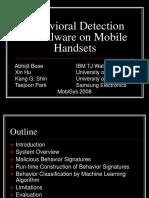 Behavioral Detection of Malware