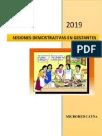 Plan de Sesion Demostrativa en Alimentacion y Nutricion Cayna