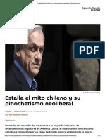 Estalla El Mito Chileno y Su Pinochetismo Neoliberal - Sputnik Mundo