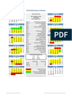2019-2020 school calendar revised g ezell april 2019