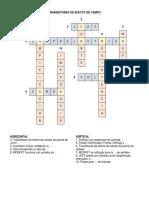 Crucigrama Transistores de Efecto de Campo