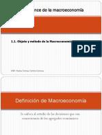 1. Alcance de La Macroeconomía. 1.1 Objeto y Método