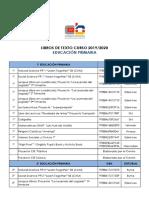 Libros Educación Primaria 2019.2020
