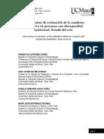 Instrumentos de evaluación de la conducta adaptativa en personas con discapacidad intelectual