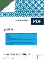 GLUCONEOGÉNESIS. Diapositivas