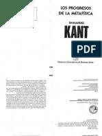 02027002 Kant - Los Progresos de La Metafísica