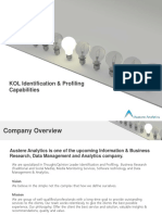 Austere Analytics Offerings