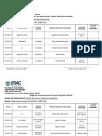 Registro de Observacion Centro Educativo Oficial Ruben Usac