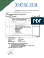 Cotización de SERVENTEG Nº69 Mantenimiento de Cadena de Frio