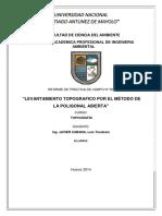 Informe n 5 Levantamiento Topografico Por El Método de La Poligonal Abierta 1