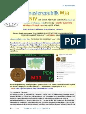 Banasierepublik M33 PDNIV von Stefan Kosiewski SSetKh ZR XXX Lecie 17 Listopada 1989 Poprad SL Uralsko-Syberyjska Inicjatywa Strategiczna 20191114 ME SOWA