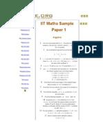 IIT Maths Sample Paper 1