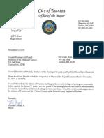 Thomas Hoyes Letter of Resignation