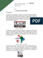 4.1 El Foro de Sao Paulo