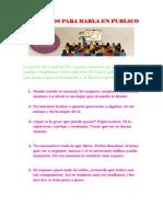 Conceptos Para Habla en Publico Lengua Yl