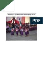 Reglamento de Evoluciones de Escolta y Actos Civicos Escolares